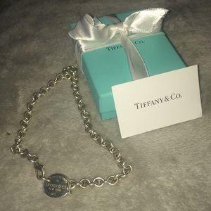 Tiffany's Tag chocker necklace